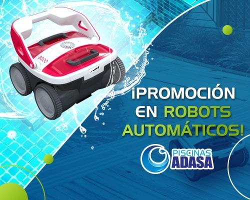 Promoción con robots de alberca adasa